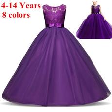 girls dress, tullepartydre, Lace, purple