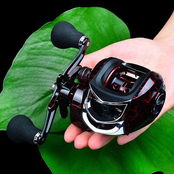 High Speed 7.2:1 Gear Ratio Baitcast Fishing Reel Metal Bearings AU R6Q8