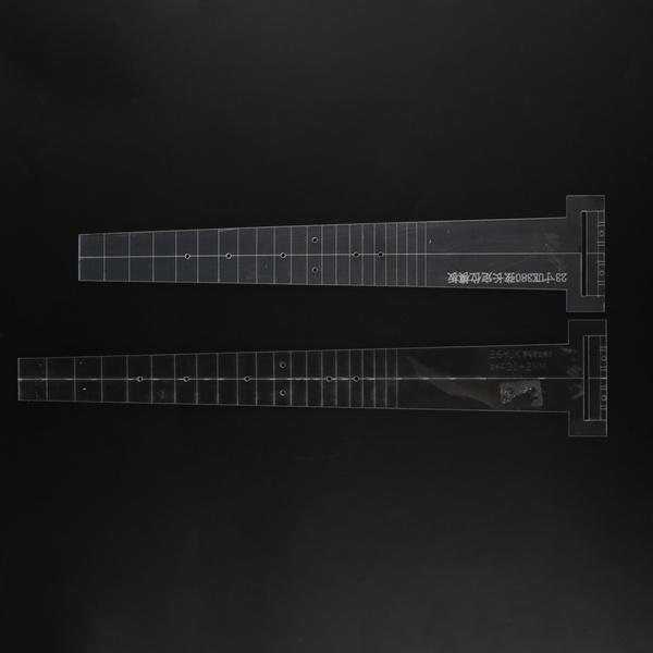 musicalinstrumentsgear, guitarfretboardfingerboardtemplate, 23inch, guitarroutingtemplate