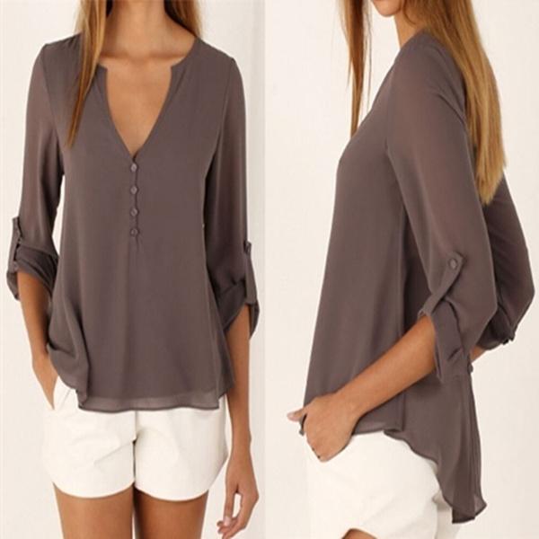 Summer, Fashion, Shirt, Irregular
