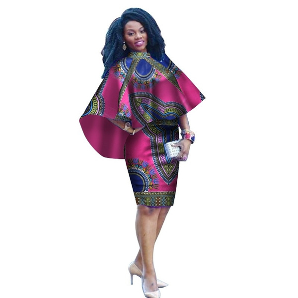 2019 Summer African Bazin Riche Dresses Vetements Africains Femme Printed Wax Knee Length African Print Dresses For Women 4xl Wy3240 Wish