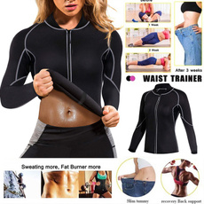 womenfatburnertop, womensneoprenesaunavestwithsleeve, Body Shapers, womenweightlosstop