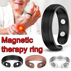 Jewelry, titanium, magnetictherapyring, fashion ring