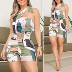 Summer, Women Rompers, Fashion, one-shoulder