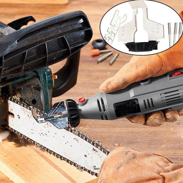 sawsharpeningattachment, electricchainsawgrinder, Electric, sharpenerguidedrilladapter