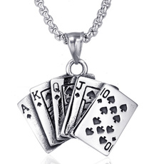 Steel, Party Necklace, Poker, Stainless Steel