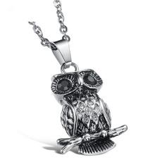 Steel, Owl, owlpendant, Nacklace
