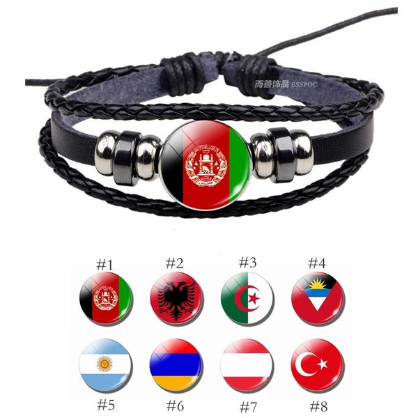Bracelet, flagjewelry, nationalflag, flagsouvenir