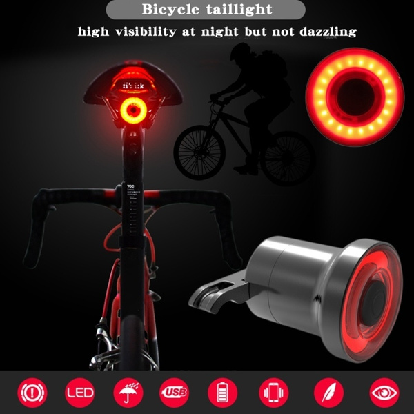 Smart MTB LED Brake Sensor Lamp Bicycle Taillight Bike Rear Night Light Lantern