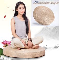 strawmat, Yoga, Cushions, Yoga Mat