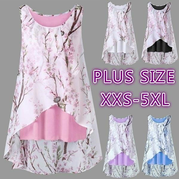 party, Plus Size, Floral print, Shirt
