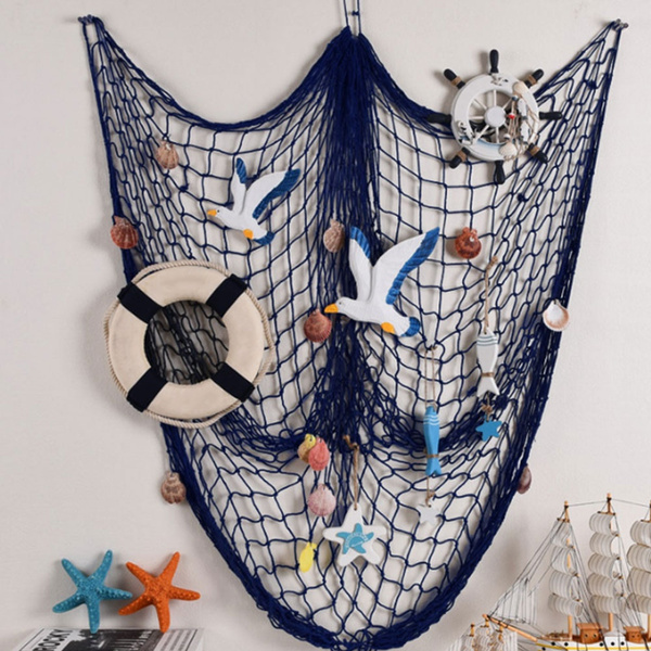 Fish Net Decor Nautical Seaside Beach Theme Sea Ocean Home Wall Party Decorative