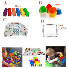 montessori, Toy, rainbow, educationalcolorsortingtoy