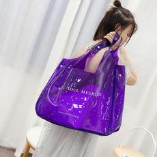 Shoulder Bags, womenbucketbag, holographichandbag, Summer