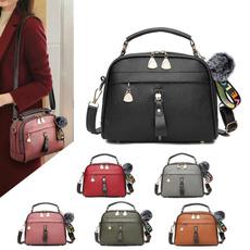 zipperbag, Shoulder Bags, leather, women handbags