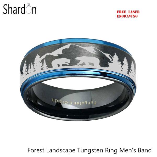 ringsformen, tungstenring, wedding ring, 8MM