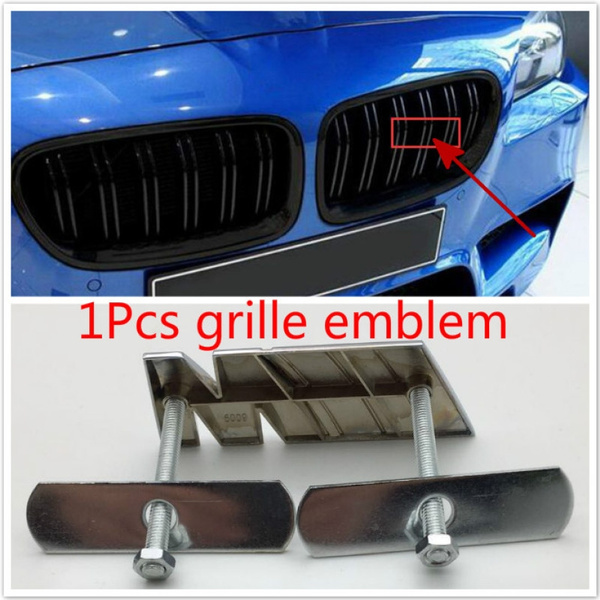 1pcs Car Front Grille Emblem M Logo Badge Sticker For B M W M1 M2 M3 M4 M5 M6 M7 M8 Car Styling Wish