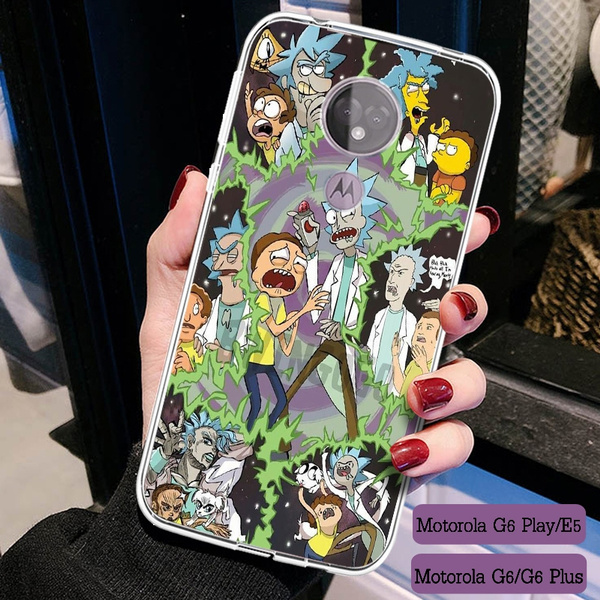 Funny Design Rick And Morty Wallpapers Soft Edge Hard Back Case For Motorola Moto G6 G6 Play E5 G6 Plus For Samsung Galaxy S10 S10e S10plus M10 A10 M20 M30 A30 A20 A40 A50 For