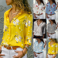 blouse, Deep V-Neck, Fashion, Shirt