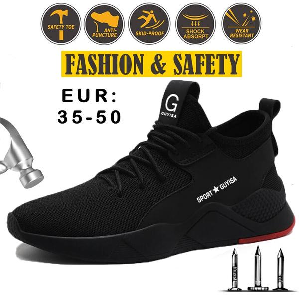 2019 New Fashion Steel Toe Shoes Kevlar