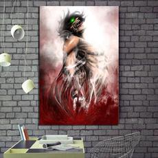Wall Art, Home Decor, cartoonwallsticker, Attack on titan