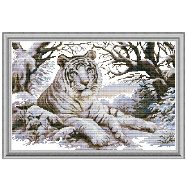crossstitch, Tiger, art, printed