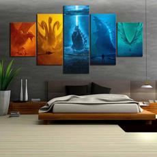 canvasprint, art, Decoración de hogar, godzilla