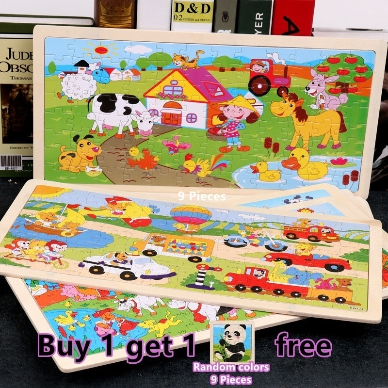 Early Educational Learning Stem Toys Gifts for Boys Girls,Wooden Puzzles for Kids Toddler Puzzles 6 Pack Wooden Vehicle Jigsaw Puzzles for Toddlers 1 2 3 4 Years Old