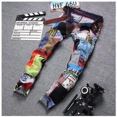 jeansformen, trousers, Colorful, men's jeans