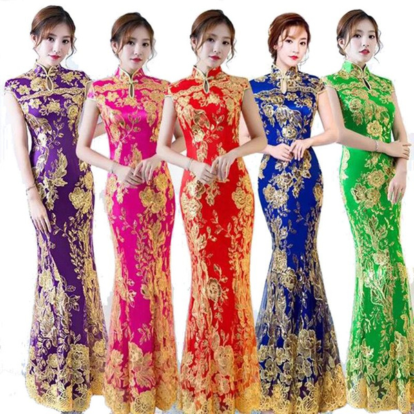 Lace, cheongsam, Evening Dress, Dress