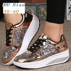 Sneakers, Fashion, gold, Womens Shoes