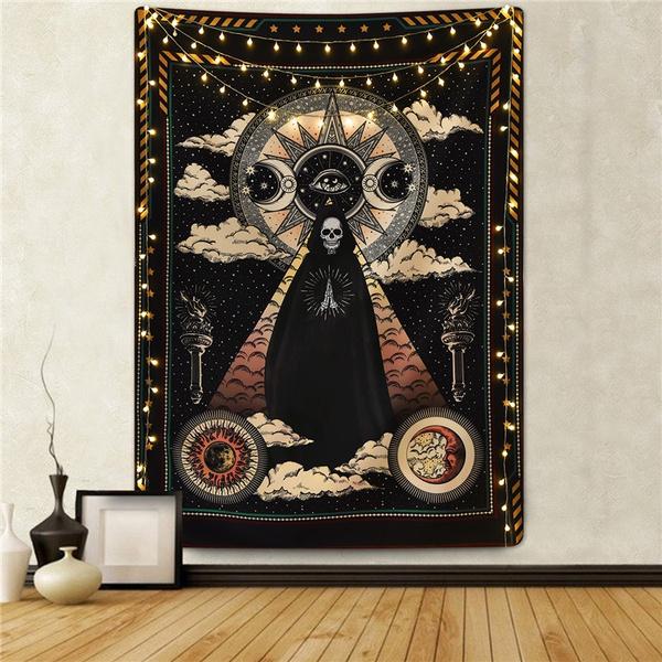 Decor, Star, mandalatapestry, skull