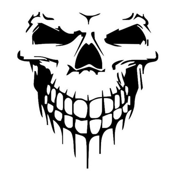 skull, Waterproof, Cars, Stickers