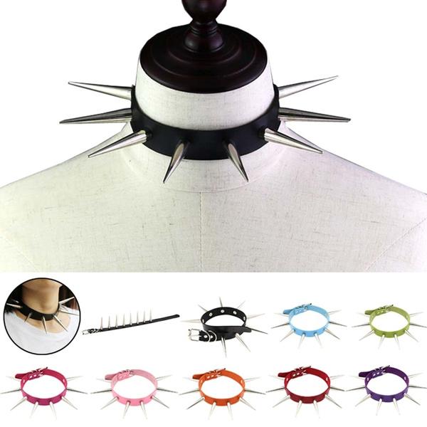 rivetscollar, Goth, punk necklace, Necks