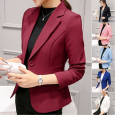 Moda, Office, Coat, Slim Fit