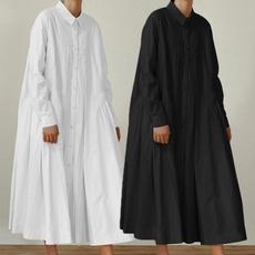 Turn-down Collar, dressesforwomen, Shirt, Sleeve