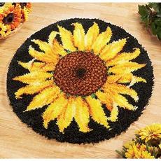 latchhookkit, crossstitchamphardanger, Sunflowers, knittingwool
