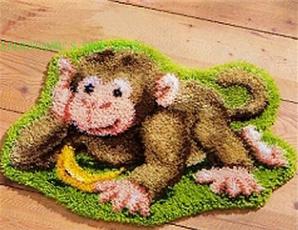 crossstitch, latchhookkit, latchhookrugkit, monkey