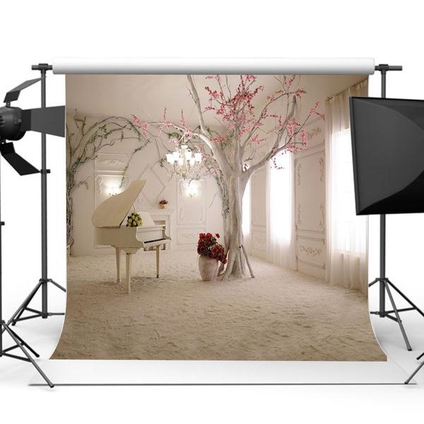 Waterproof Professional Beauty Vinyl White Piano Photography Background Photo Studio Photoprop For Taking Photo Studio Home Garden Wedding Decor Wish