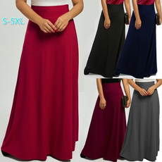 long skirt, Plus Size, high waist, Skirts