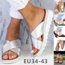 casual shoes, wedge, Flip Flops, flatslipper