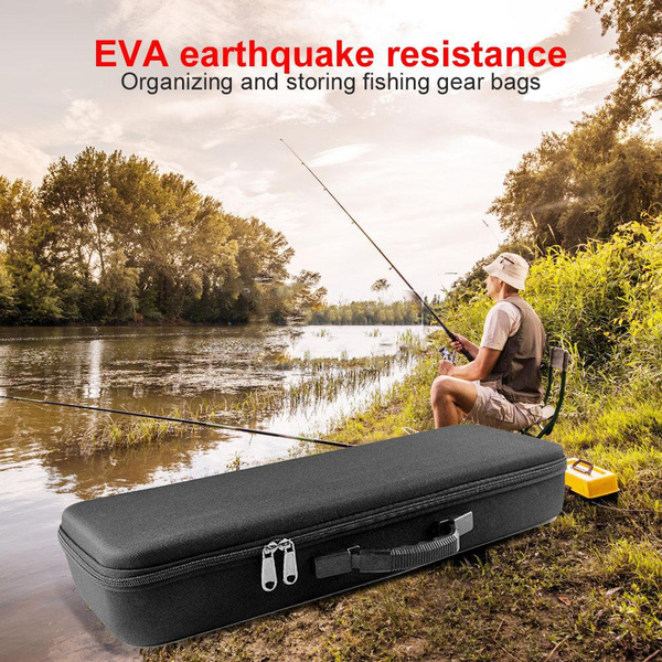 BW#A Shockproof Hard Shell Fishing Rod Bag Outdoor Fishing Storage Bag Accessory