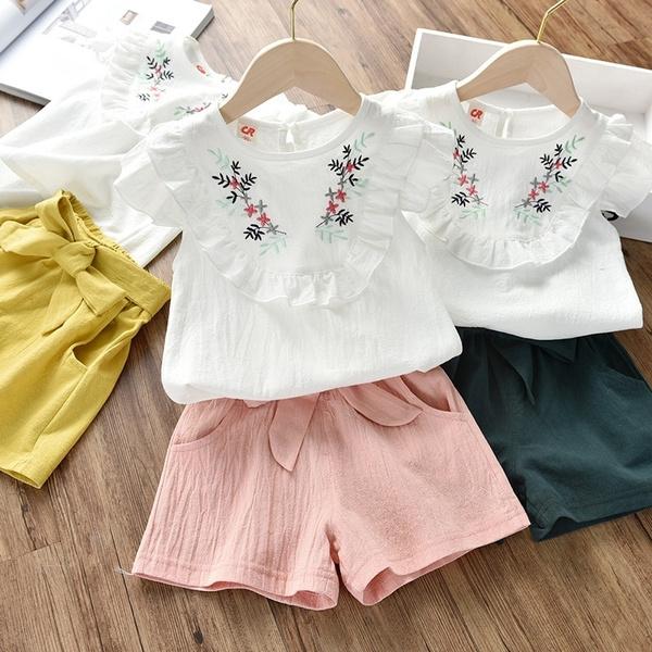 Summer, Baby Girl, Shorts, Shirt