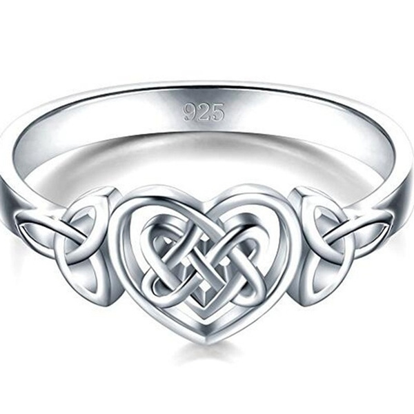 Sterling, Celtic, Engagement Wedding Ring Set, Jewelry