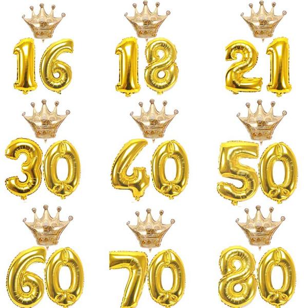crown, Jewelry, gold, birthdayballoon