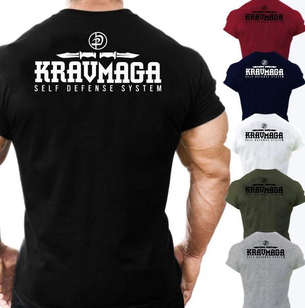 Mens T Shirt, Fashion, Cotton T Shirt, kravmaga