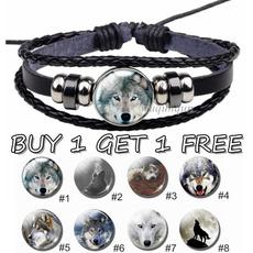 leatherbraidedbracelet, Get, wovenbracelet, Glass