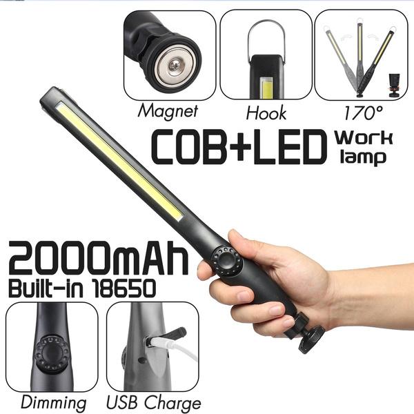 Flashlight, cobworklight, Rechargeable, led