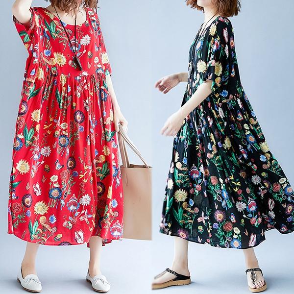 Summer, sundress, long dress, bighemskirt
