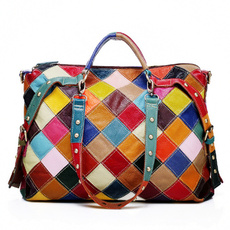 Capacity, Colorful, Bags, genuine leather